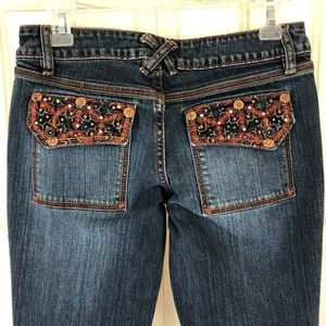 No Boundaries Distressed Stretch Jeans Embellished